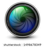camera photo lens with shutter... | Shutterstock .eps vector #1498678349