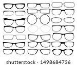 vector glasses frames. black...   Shutterstock .eps vector #1498684736
