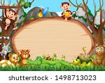 border template design with...   Shutterstock .eps vector #1498713023