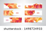 vector set of banners with... | Shutterstock .eps vector #1498724933