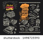 waffle and pancake menu... | Shutterstock .eps vector #1498725593