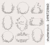 collection of geometric vector... | Shutterstock .eps vector #1498725860
