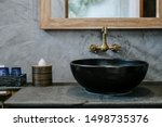Black sink  vintage copper...