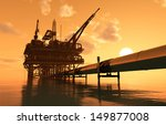 oil production and the pipe in... | Shutterstock . vector #149877008