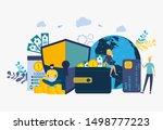 colorful vector illustration ... | Shutterstock .eps vector #1498777223