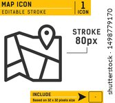 map with pin icon vector on...