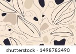 trendy contemporary floral... | Shutterstock .eps vector #1498783490