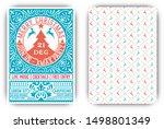 christmas party flyer retro... | Shutterstock .eps vector #1498801349