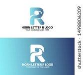 3d horn letter r logo. modern...   Shutterstock .eps vector #1498806209