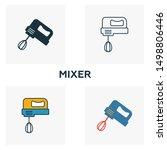 mixer icon set. four elements... | Shutterstock .eps vector #1498806446