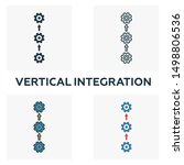 vertical integration icon set....