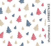 christmas tree seamless pattern ... | Shutterstock .eps vector #1498807643