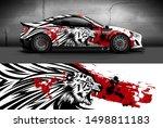 car wrap  decal  vinyl sticker... | Shutterstock .eps vector #1498811183