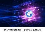 vector digital global... | Shutterstock .eps vector #1498812506
