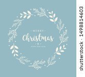 merry christmas greeting text...   Shutterstock .eps vector #1498814603