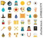 magic fortune teller icons set. ... | Shutterstock .eps vector #1498831979