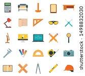architect equipment icons set.... | Shutterstock .eps vector #1498832030