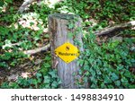 Yellow Hiking Trail Mark On A...