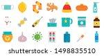 flu sick icon set. flat set of...   Shutterstock .eps vector #1498835510