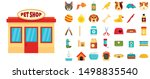 Stock vector pet store icon set flat set of pet store vector icons for web design 1498835540