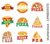 pizza logo set. flat set of... | Shutterstock .eps vector #1498835570