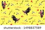 vulture bird vector... | Shutterstock .eps vector #1498837589