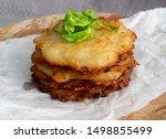 potato pancakes stack  draniki  ... | Shutterstock . vector #1498855499