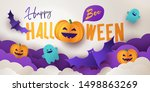 Happy Halloween Greeting Banner ...