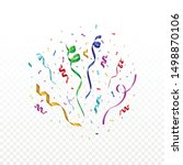 colorful celebration confetti... | Shutterstock .eps vector #1498870106