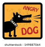 angry,animal,avoid,avoidance,background,bad,beware,canine,cartoon,danger,dangerous,design,dirty,dog,doggy