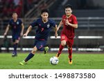 Small photo of BKK,THA-SEP.5: Supachok Sarachat #7 of Thailand in action during FIFA World Cup 2022 Preliminary Round2 Thailand and Vietnam at Thammasat Stadium on Seotember 5, 2019 in Bangkok, Thailand.