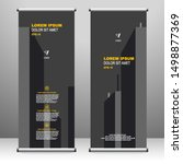 roll up banner stand template... | Shutterstock .eps vector #1498877369