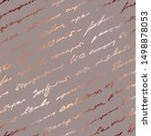handwriting scribble.... | Shutterstock .eps vector #1498878053