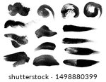 Small photo of Large set hand drawn water illustration black and white brush stroke for photoshop.Many set and collection of straight line.hard thin round zen Paint Brush.Calligraphy High Detail splatter Background.