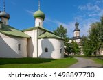 Orthodox churches and cathedrals inside Kirillo Belozersky monastery in the village of Kirillov near Goritsy in Russia