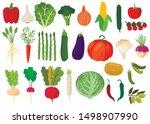 harvest. set of fresh... | Shutterstock .eps vector #1498907990