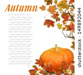 Wave From Autumn Leaves With...