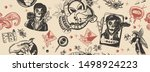 aliens invaders seamless... | Shutterstock .eps vector #1498924223