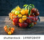 Colorful Organic Tomatoes On...