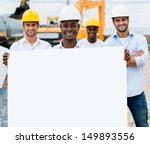 Group Of Construction Workers...