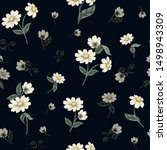 seamless floral pattern with... | Shutterstock .eps vector #1498943309
