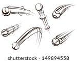 flying tennis balls set for... | Shutterstock .eps vector #149894558