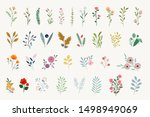 set of floral elements for... | Shutterstock .eps vector #1498949069