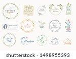 set of elegant badges and...   Shutterstock .eps vector #1498955393