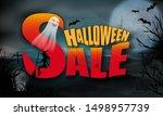 halloween sale background full... | Shutterstock .eps vector #1498957739