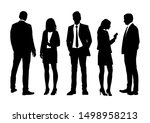 vector silhouettes of  men and... | Shutterstock .eps vector #1498958213