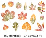 Colorful Fall Leaves Set....