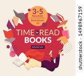 Time To Read Books Vector...