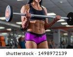 a powerful  strong  muscular... | Shutterstock . vector #1498972139