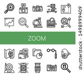 set of zoom icons such as... | Shutterstock .eps vector #1498999409